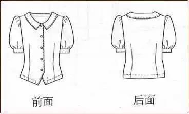 四种女士衬衫的纸样设计(附:上衣纸样弊病修正)