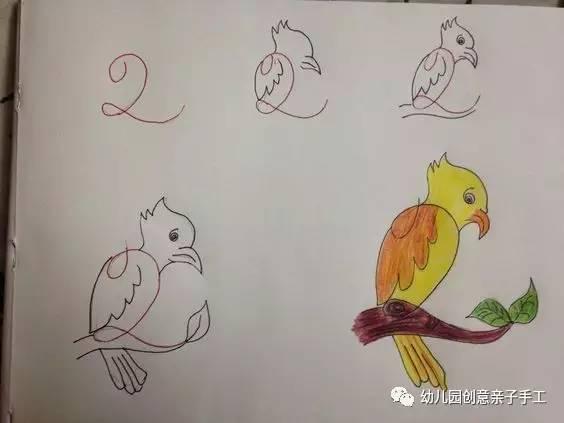 儿童简笔画 字母 数字等,画出孩子喜欢的小动物图片