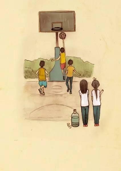 动漫走路手绘背影