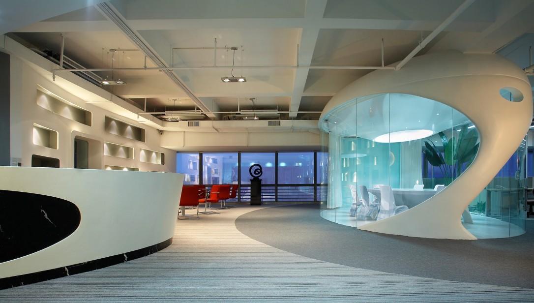 西安办公室装修 创意办公室装修效果图图片