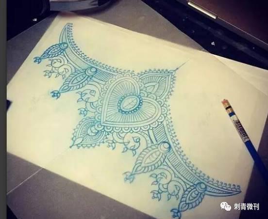 曼陀罗花纹手稿图片
