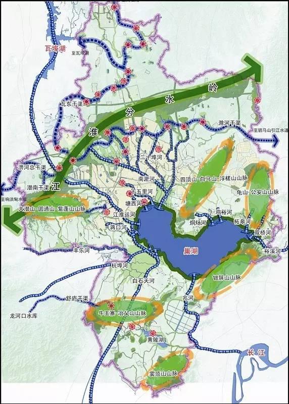 合肥巢北工业区规划图