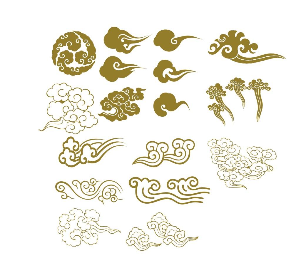 纹身用图:祥云
