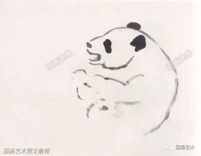 图文教程:萌萌的写意熊猫这样画!