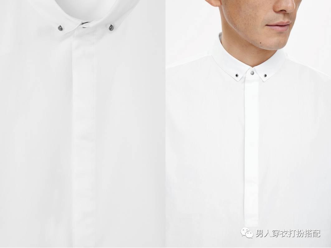 包邮2015男士立领衬衫男款白色立领衬衣男长袖... _服饰鞋包/男装