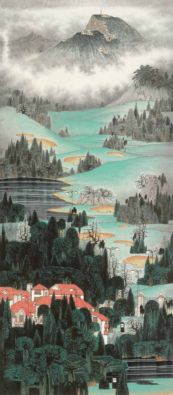 工笔山水画图片