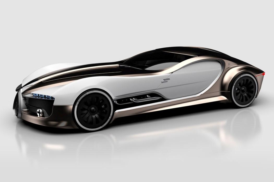 ��{����t�ӭ_组图:布加迪57t双门跑车 复古的未来