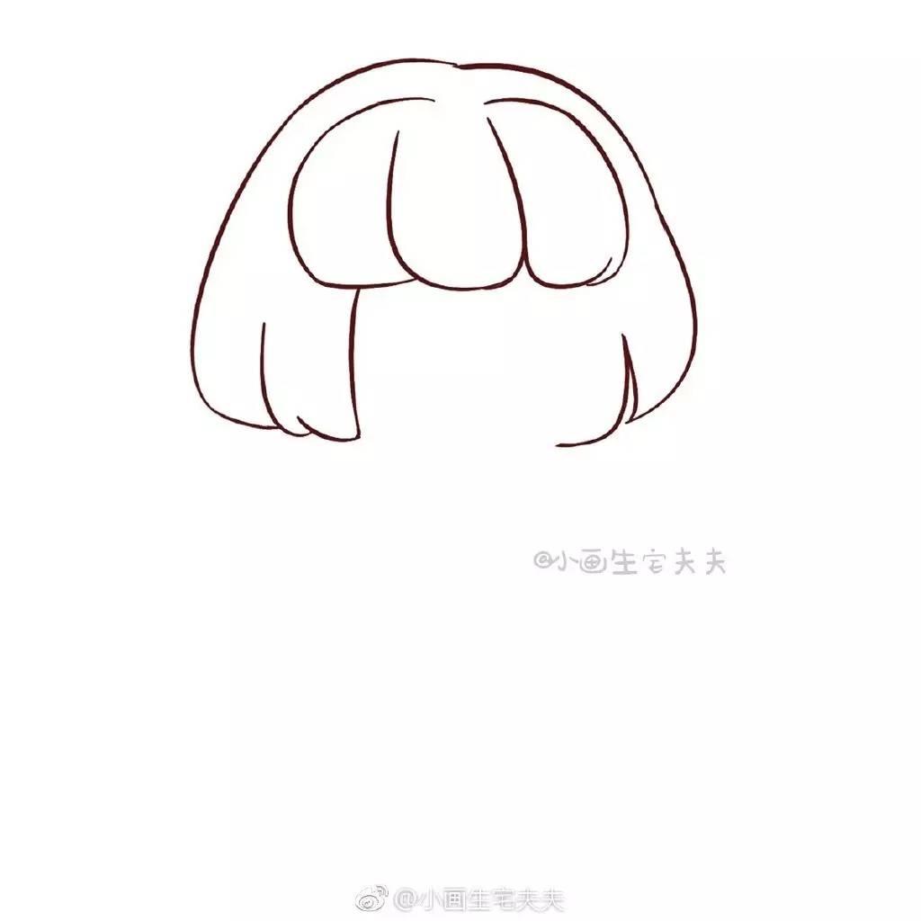简笔画教程 | 蘑菇头小可爱(小画生宅夫夫)