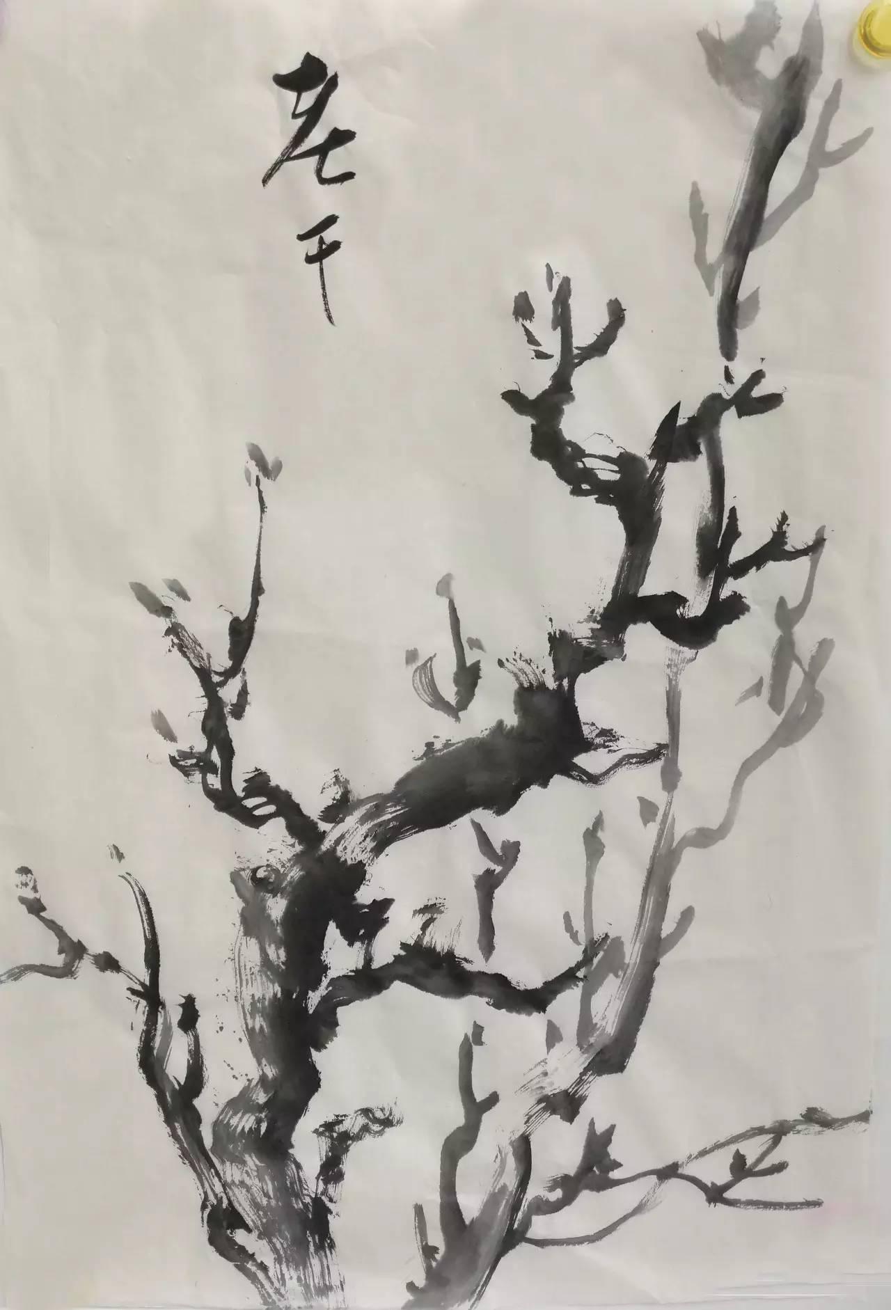 刘老师示范牡丹叶子的画法.图片