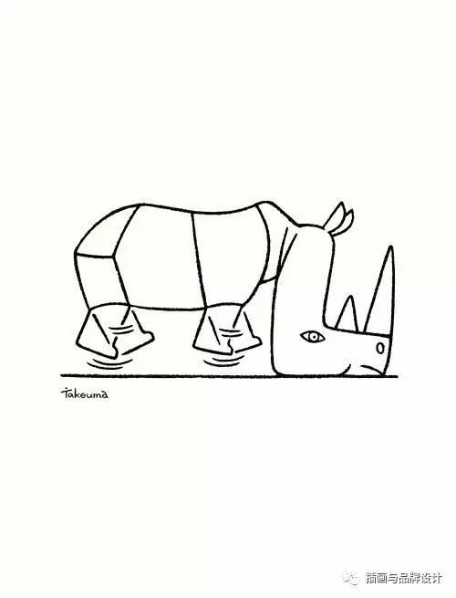 I x26amp B插画丨日本插画师笔下的萌物 创意让简笔画变得更萌更可爱
