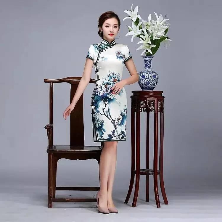 真丝旗袍,常穿旗袍的人才会喜欢 2