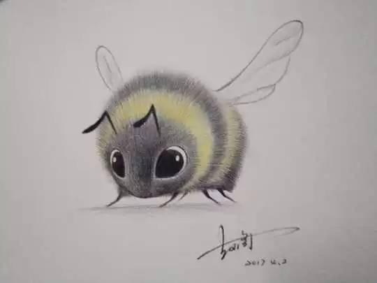 时尚 正文  有童鞋还想画简笔小动物的 这只小蜜蜂可爱吧