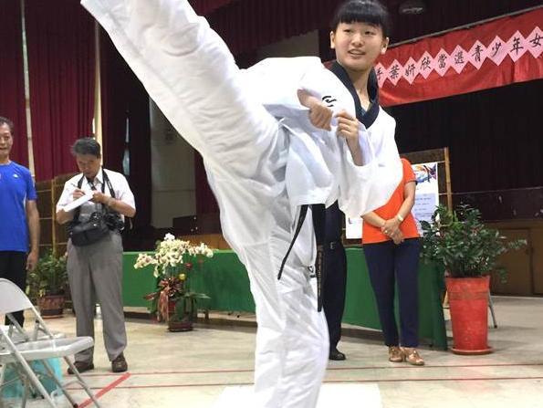 跆拳道少女国手叶妍欣 目标亚、奥运