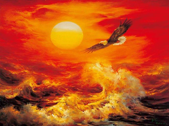 画家笔下心中的海