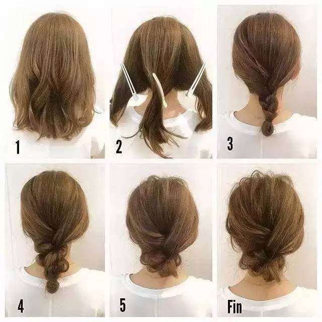短发就不能编出时尚发型?这个简单教程让你扎出漂亮时尚发型!图片