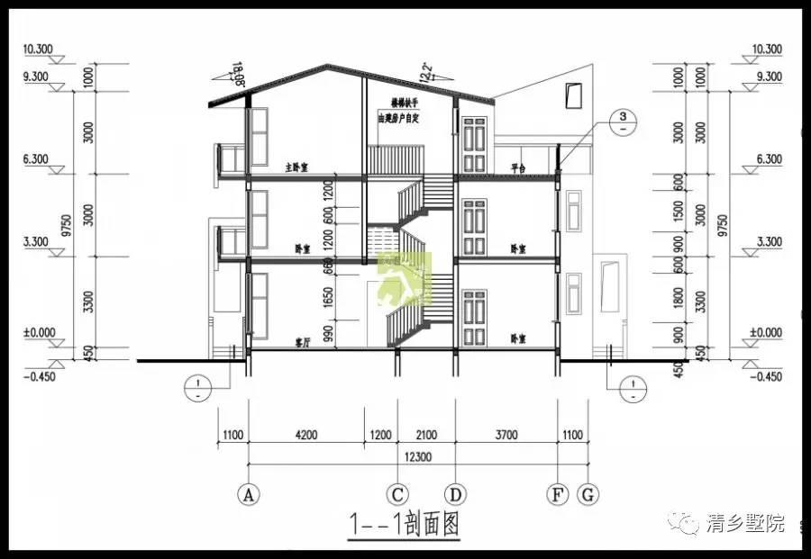 8米x15.0米简洁轻巧20万自建别墅方案图片