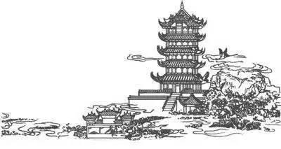 简笔画 建筑 旅游 手绘 塔 线稿 400_213