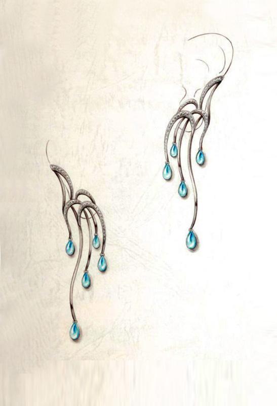 其实珠宝手绘设计图是很值得一看的, 它凝聚了珠宝设计师的心血, 它