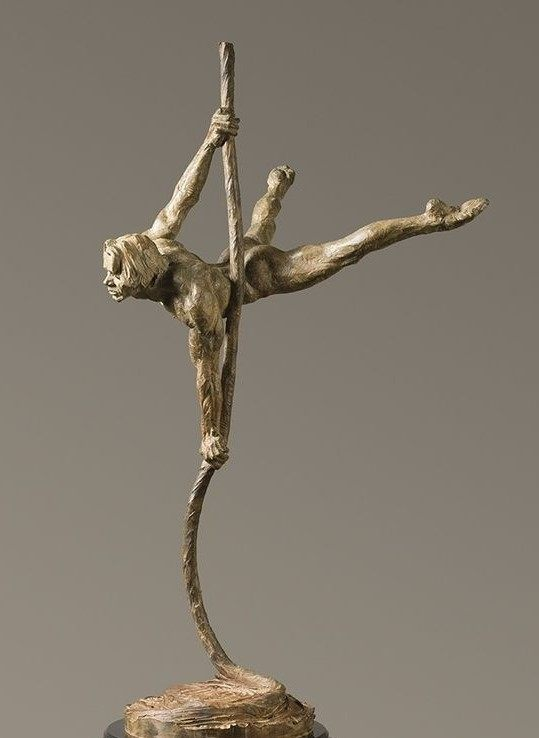 人猿泰山白铜人体雕塑