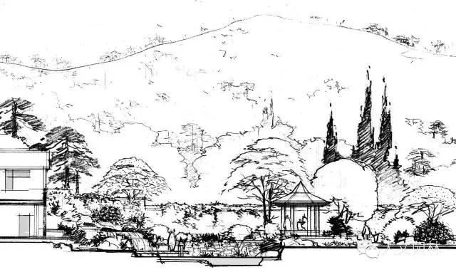 前辈徐东耀园林景观手绘|合集