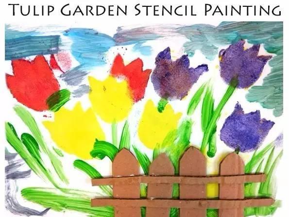 术创意 拓印 水粉画简单涂鸦
