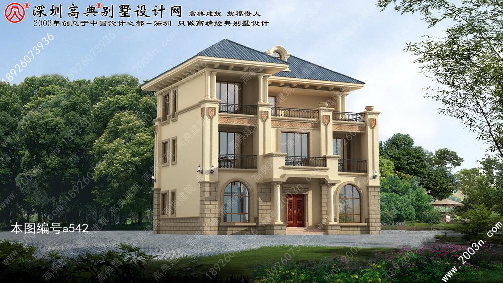 农村小别墅设计图三层首层126平方米