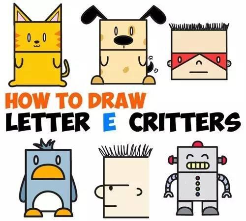 儿童简笔画,字母另类记忆法,多种教程让孩子选择