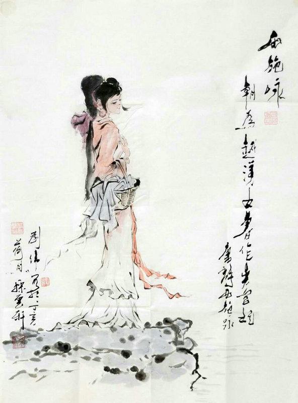 美女拉二胡伴奏  国画大师刘伟作骏马图惊艳四座 - 视点阿东 - 视点阿东