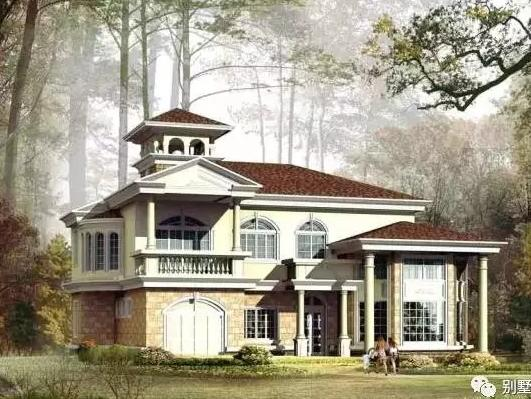 17x13m带车库二层欧式别墅,用首付盖起你私人豪邸图片