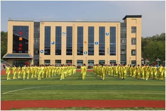 汉中市仁德学校第一届田径运动会开幕式成功举办图片 33689 556x372