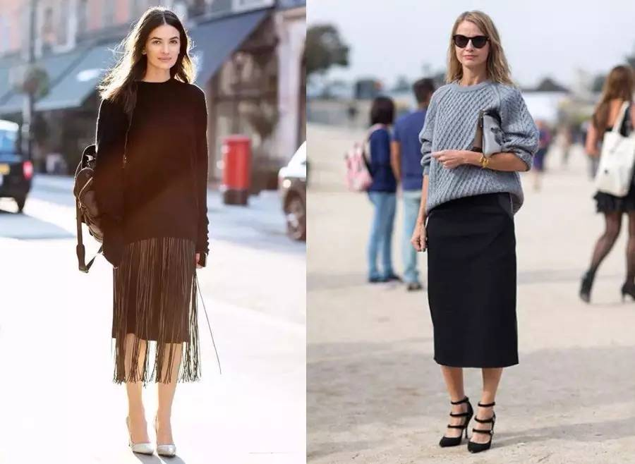 甭管穿毛衣or衬衫,一条半身裙让你瘦十斤!!