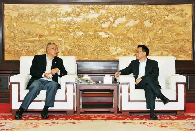宋鑫会见上海期货交易所党委书记、理事长姜岩一行
