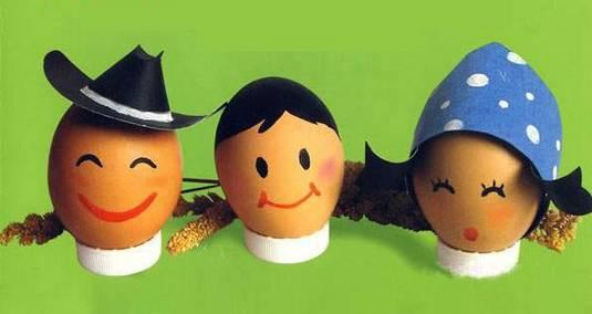 幼儿园鸡蛋壳手工绘画,让家长都惊呆了图片