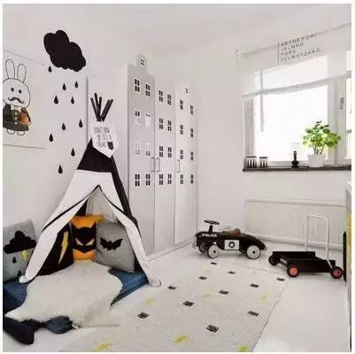 for Black and white kids room