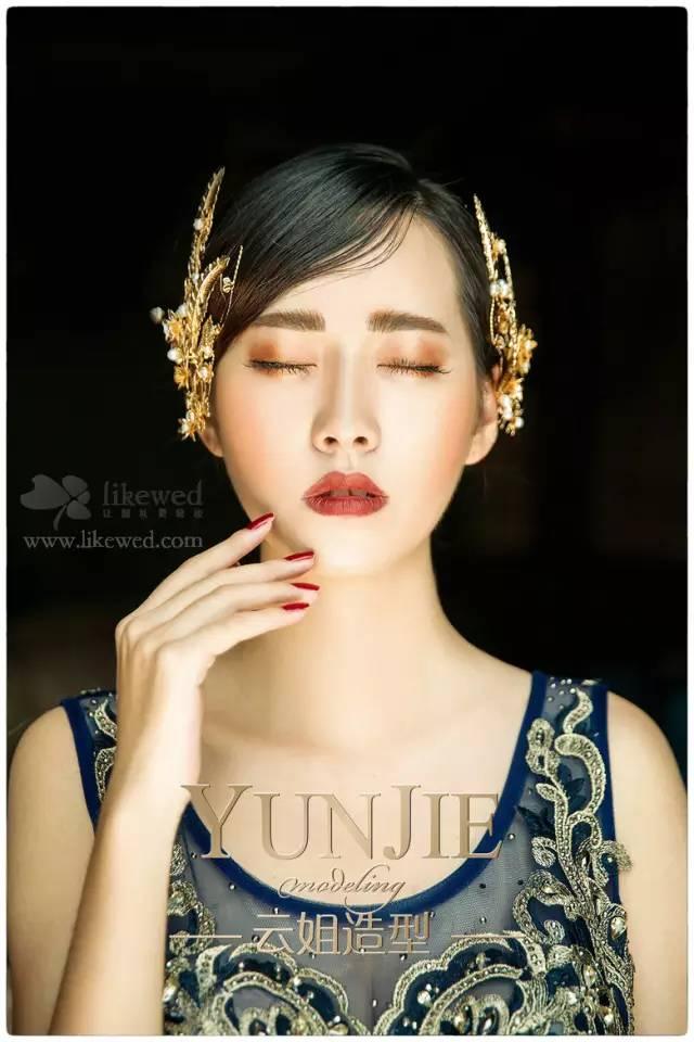 复古欧式新娘眼妆图片