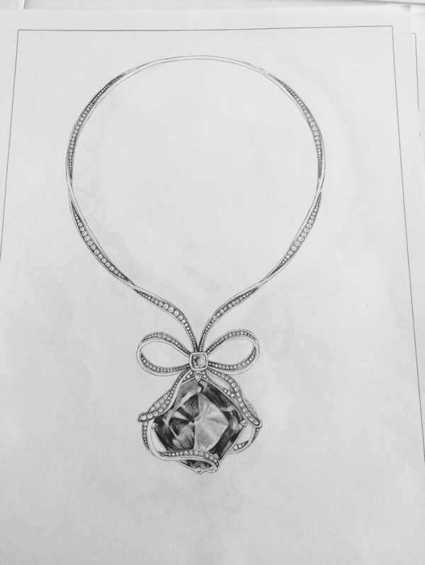 精美绝伦的珠宝首饰设计,不一般的素描彩铅手绘 搜狐艺术 搜狐网