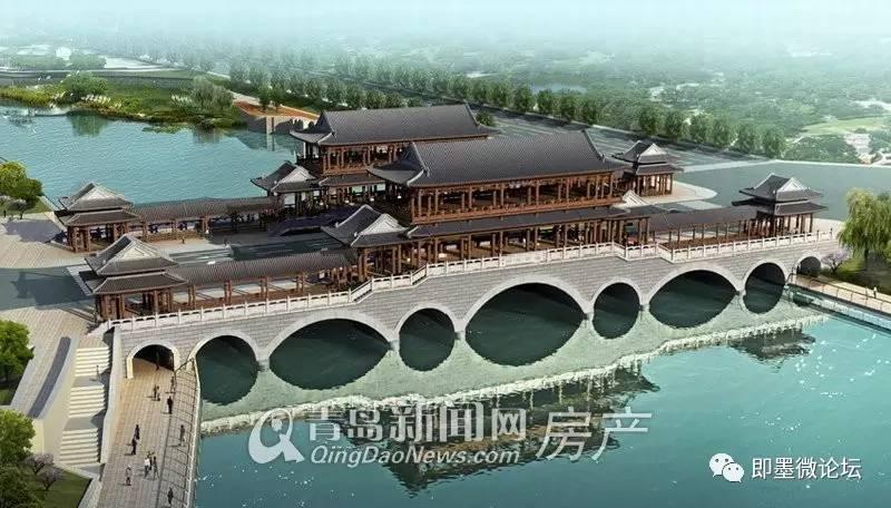 新建7孔上乘式实腹拱桥,桥梁全长89米.桥梁横向分3幅,总宽度37.2