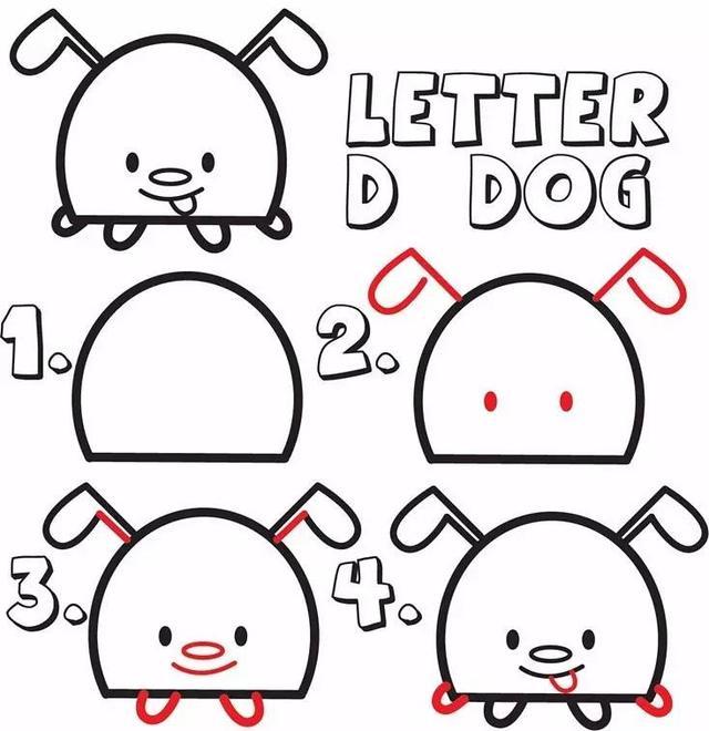 儿童简笔画 由字母D演变十种动物,加深孩子记忆