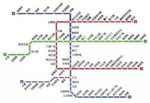 苏州地铁4号线主线有31个站点,支线有7个站点,全线共计38个站点.图片