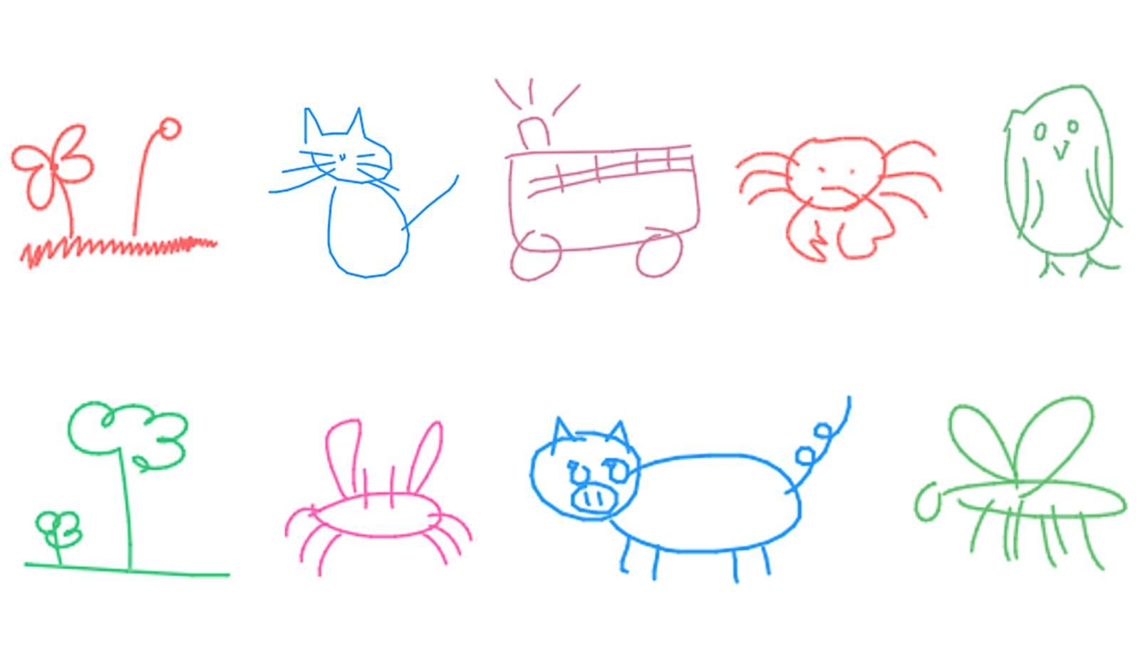 一些 sketch-rnn 创作的画