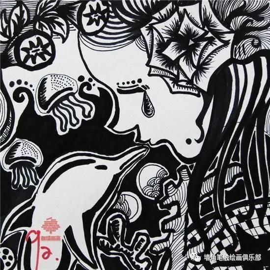 他山之石 艺 黑白装饰画,强烈的装饰感,高度的概括性