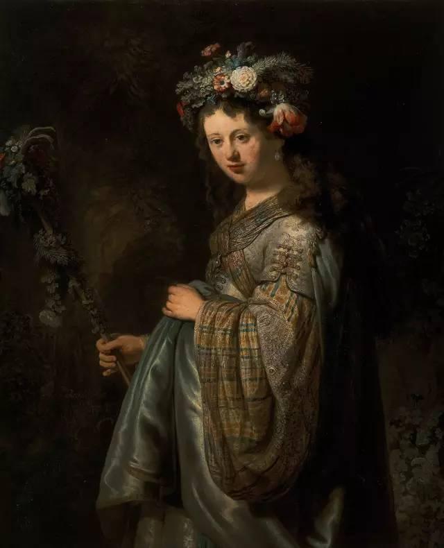 花神   年轻的萨斯基亚的肖像   沐浴的拔示巴   使得画面失去了原有的一些人物和场景.