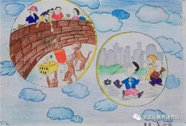姜城中学 文明礼仪伴我行 优秀绘画作品