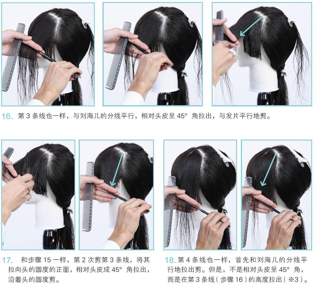 超实用,超流行的短发蘑菇头剪发教程 短发蘑菇头剪发教程上篇: 剪刘海图片