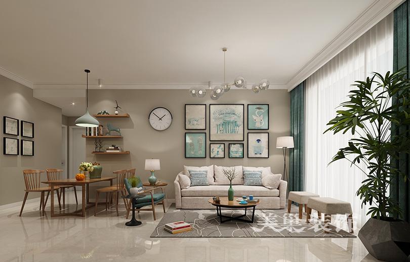 谷87平两室两厅装修效果图——户型布局图 设计师一对一 一站式服务图片