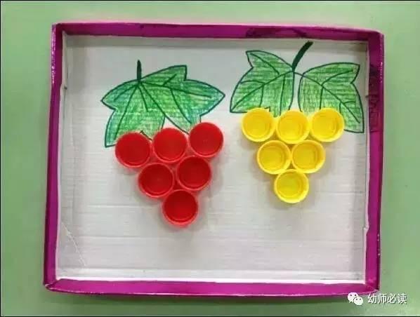 0款幼儿园瓶盖创意手工制作