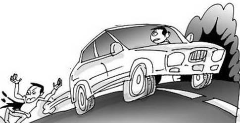 身亡,肇事车辆凭空消失高清图片