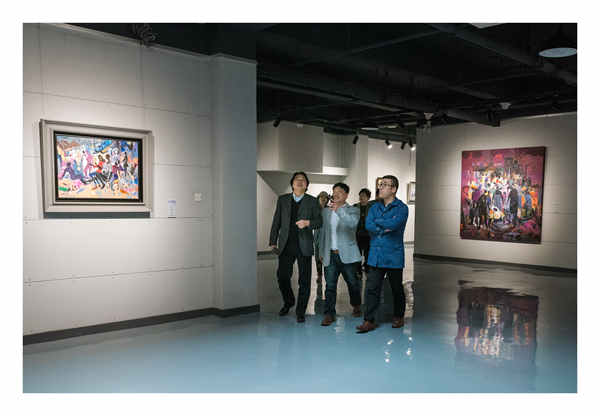 海洋美术馆开馆暨油画名家与汪明强油画展于4月13日隆重开幕