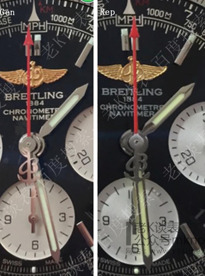 老K谈表第138期:JF厂百年灵航空计时真假对比评测!