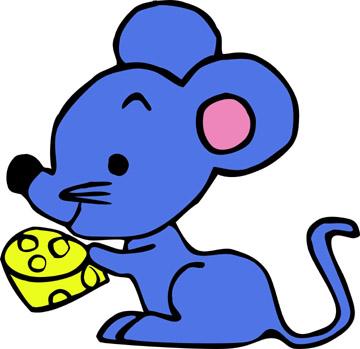 一个蓝色的卡通鼹鼠还是老鼠 它叫什么名字 出自哪里?图片